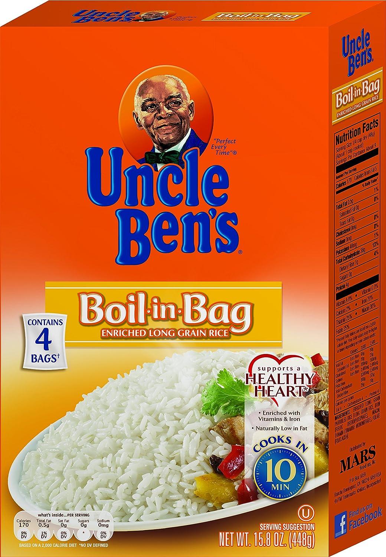 Amazon Uncle Bens Boil In Bag White Rice 158oz 12pk