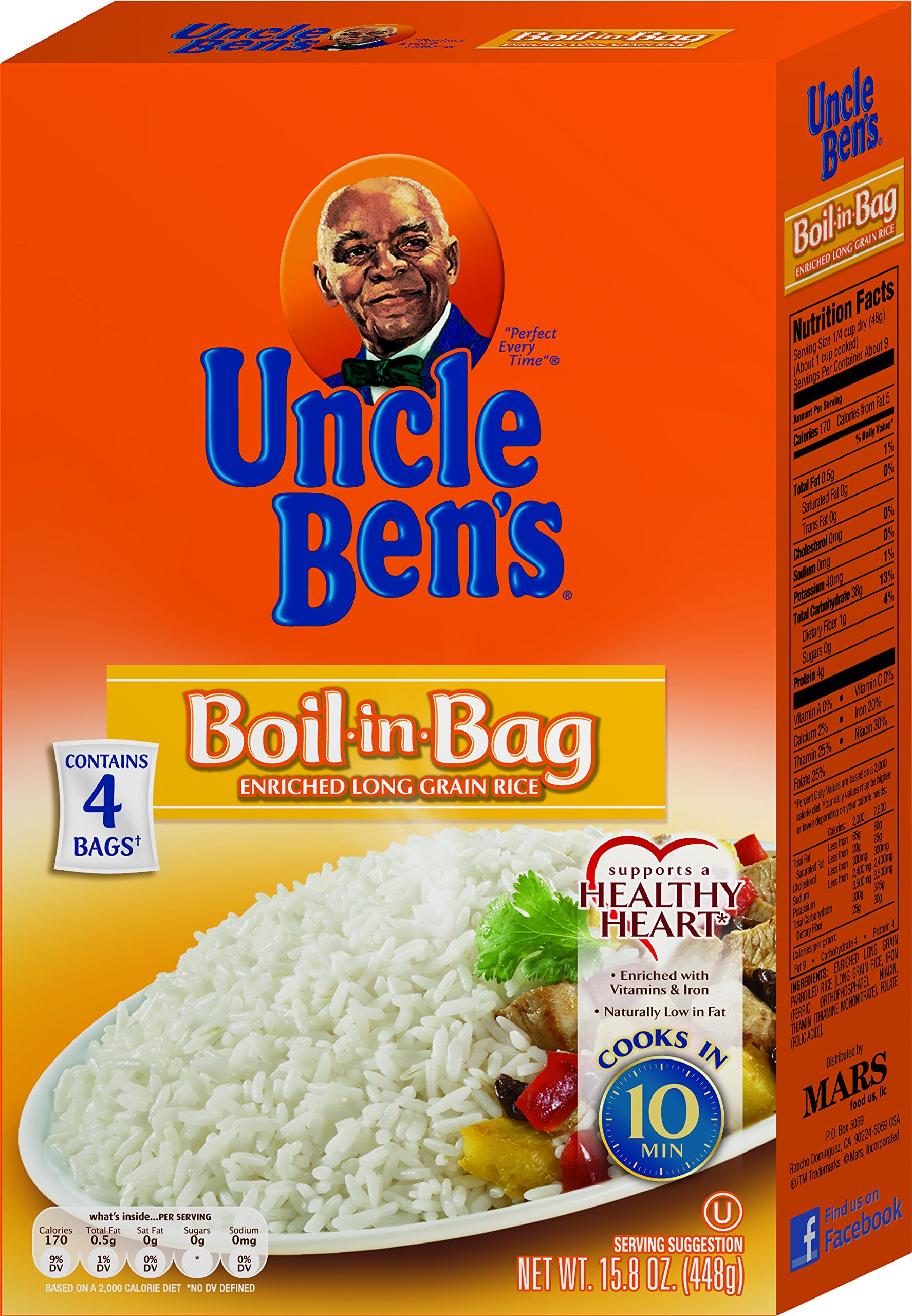 UNCLE BEN'S Boil-In-Bag: White Rice, 15.8oz.