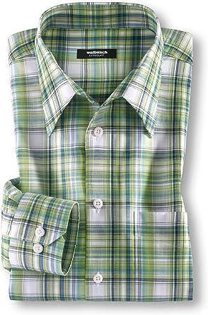 Walimex Busch Hombre libre de planchar Camisa Cuadros en los ...