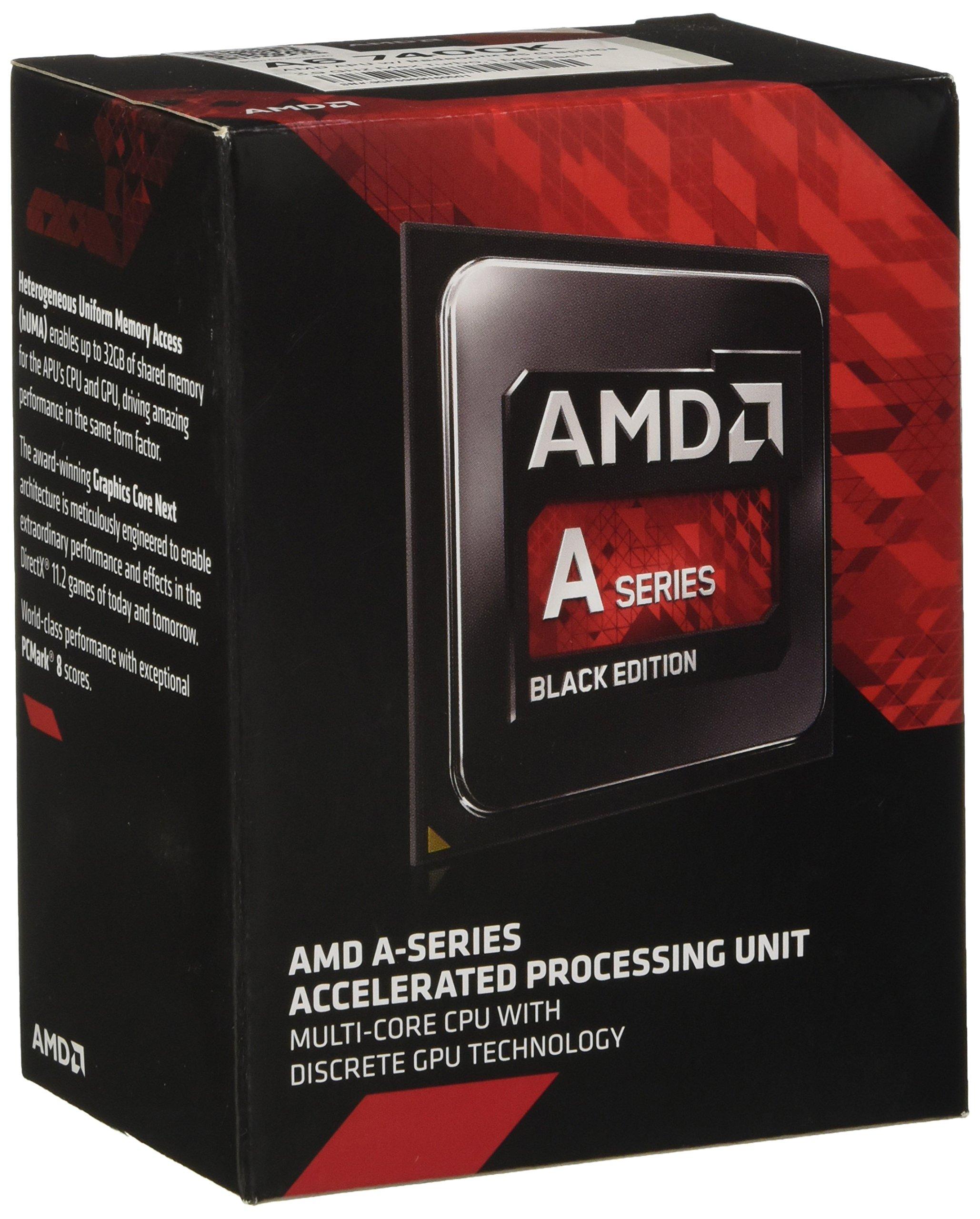 AMD AMD A6-7400K Dual-Core 3.5 GHz Socket FM2+ Desktop Processor Radeon R5 Series (AD740KYBJABOX) by AMD