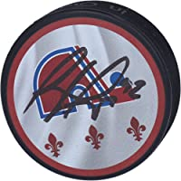 $55 » Gabriel Landeskog Colorado Avalanche Autographed Reverse Retro Hockey Puck - Autographed NHL Pucks