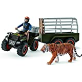 シュライヒ ワイルドライフ ジャングル調査隊4輪バギーセット フィギュア 42351