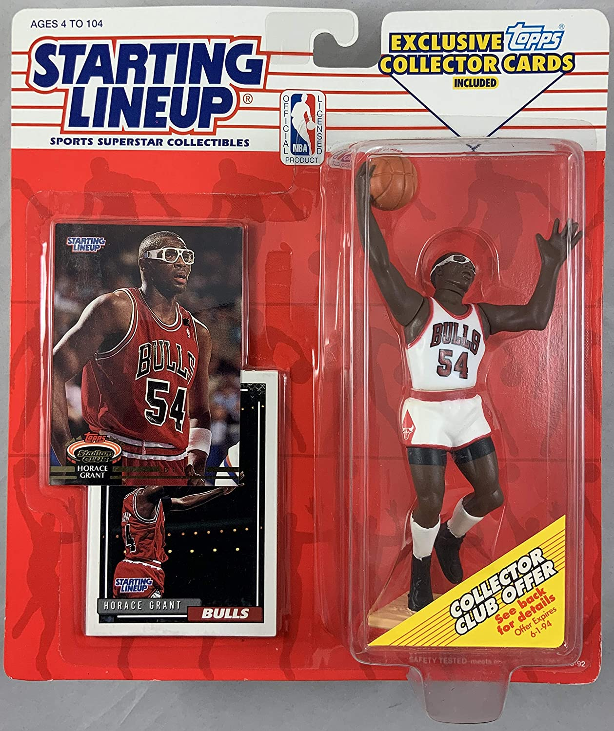 1993 KENNER STARTING LINEUP NBA HORACE GRANT CHICAGO BULLS MOC