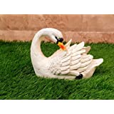 Wonderland Swan Statue Facing Back (Garden Decor, Garden Decoration, Garden Statue, swan Duck Statue, Home Decor, Balcony Decoration, Resin Statue, Gifting, Gift)