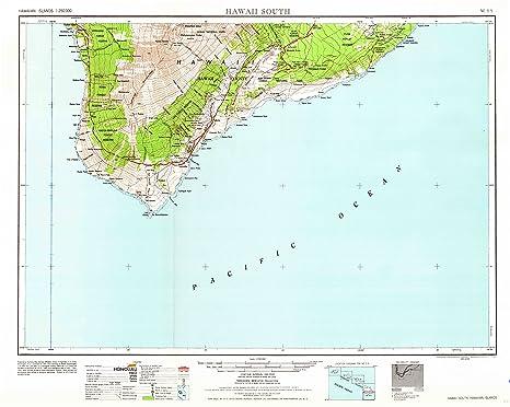 Amazon.com : Hawaii South HI topo map, 1:250000 scale, 1 X 2 Degree ...