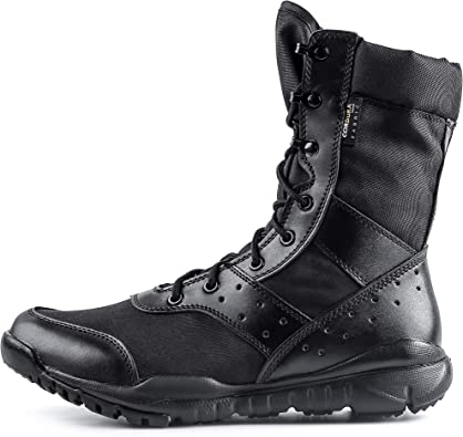 Amazon.com: WWOODTOMLINSON Men's LD Lightweight Combat Boots  Microfiber/Suede Leather Military Tactical Boots: Shoes