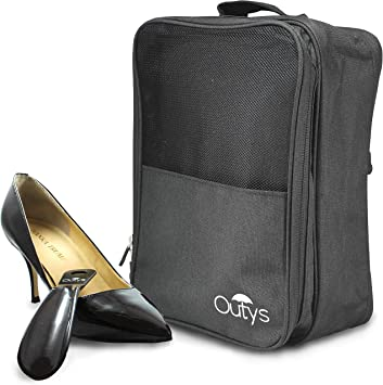Black New Portable Waterproof Shoes Bag Travel Storage Pouch Pocket Packing Cubes Handle Nylon Zipper Organizer Shoe Bag z30-1