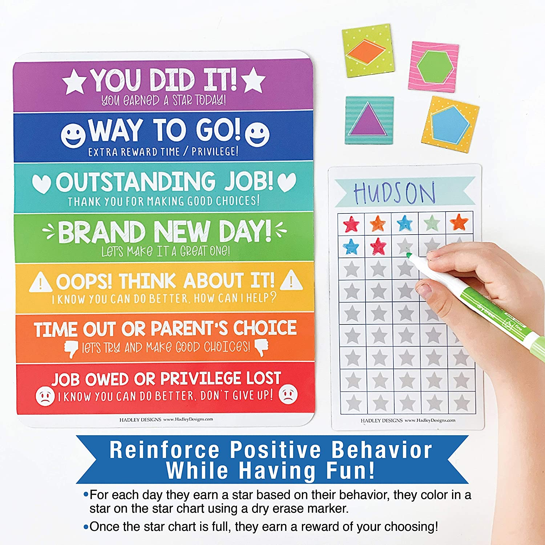 Good Behavior Chart For Kids at Home Magnetic Star Chart For Kids Behavior Kids Reward Chart For Kids at Home Magnetic Responsibility Chart For Kids Toddler Behavior Chart Classroom Incentive Chart