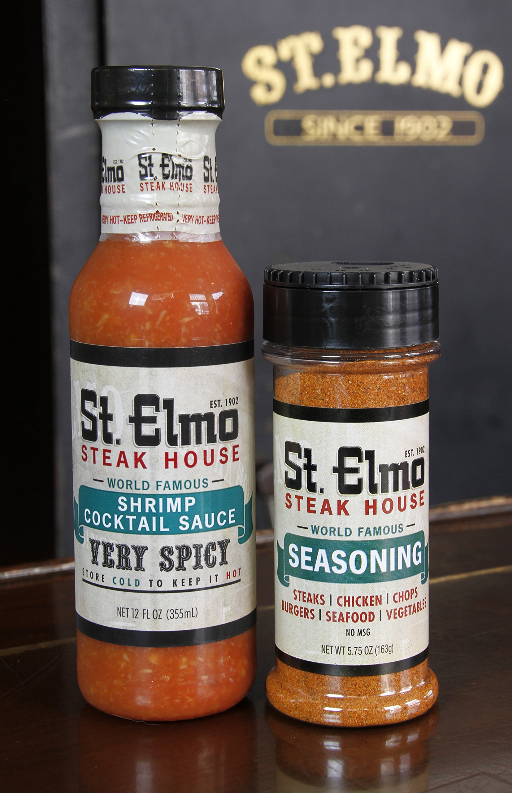 St Elmo Shrimp Cocktail Sauce and Seasoning Bundle