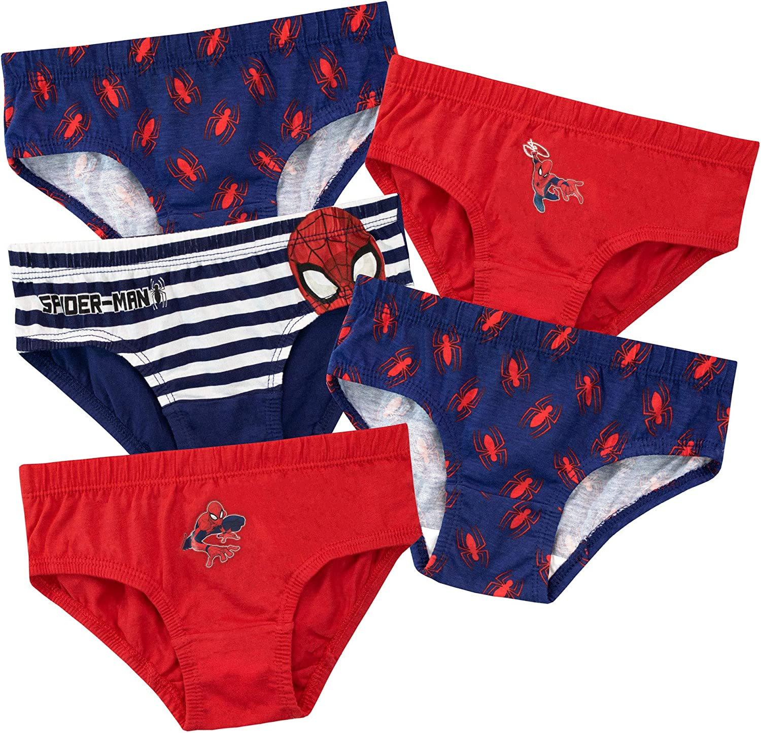 boys underpants pants /& vest set spiderman red /& white holidays holiday