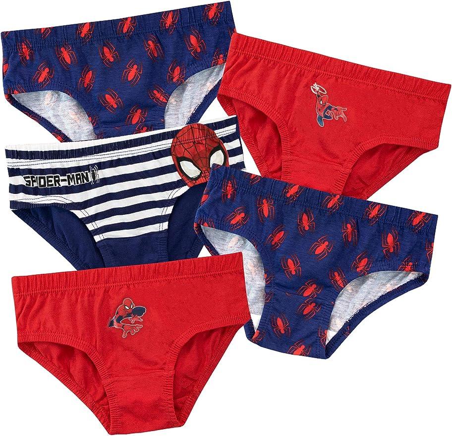 Spiderman Ropa interior para niños 3-4 años (Pack de 5) Multicolor ...