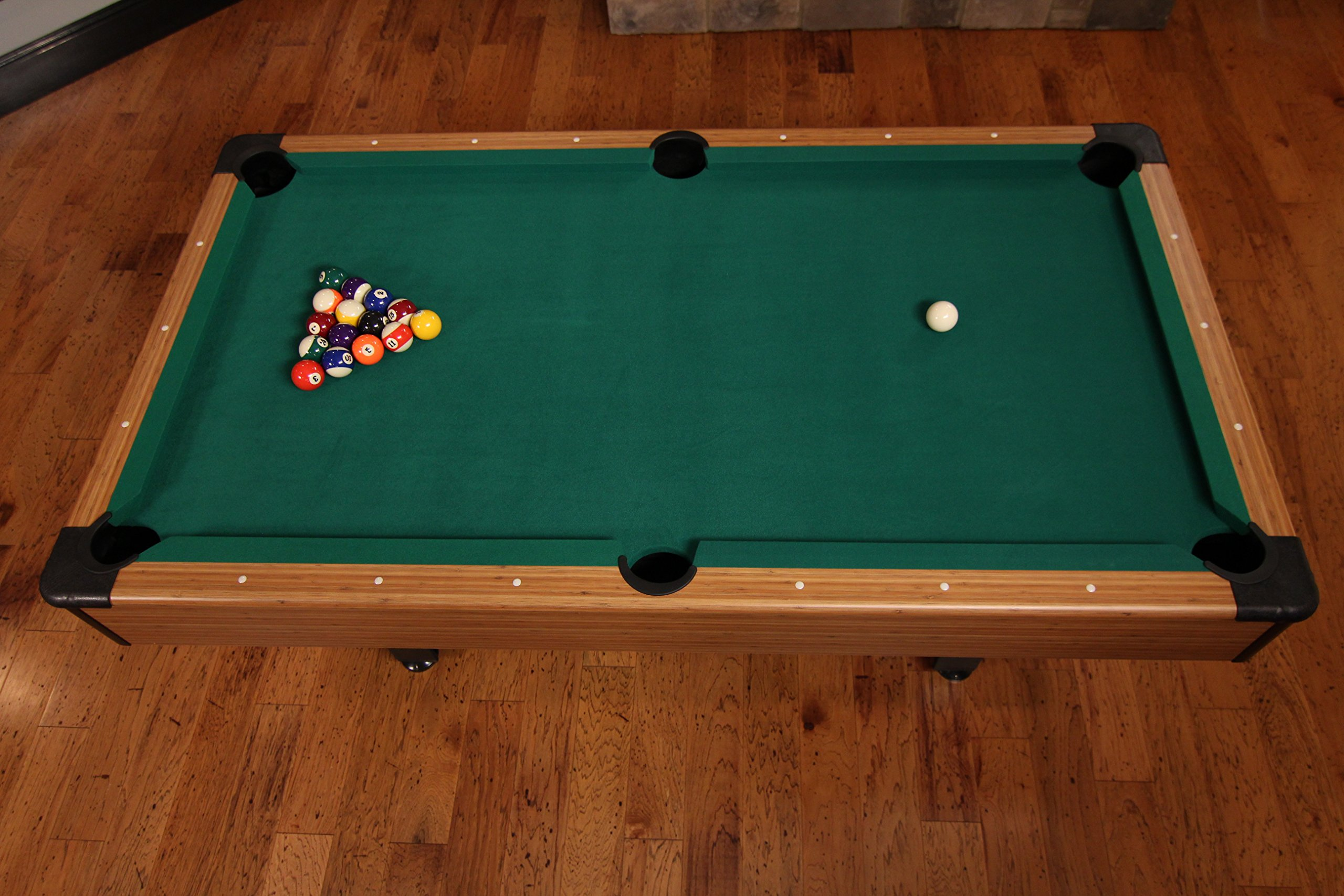 Mizerak Dynasty Space Saver 6.5' Billiard Table with Compact Design to Fit in Smaller Rooms, Leg Levelers for Perfectly Even Playing Surface, Double-sealed MDF Play-bed for Consistent Roll and Automatic Ball Return for Quick Game Reset by Mizerak (Image #12)