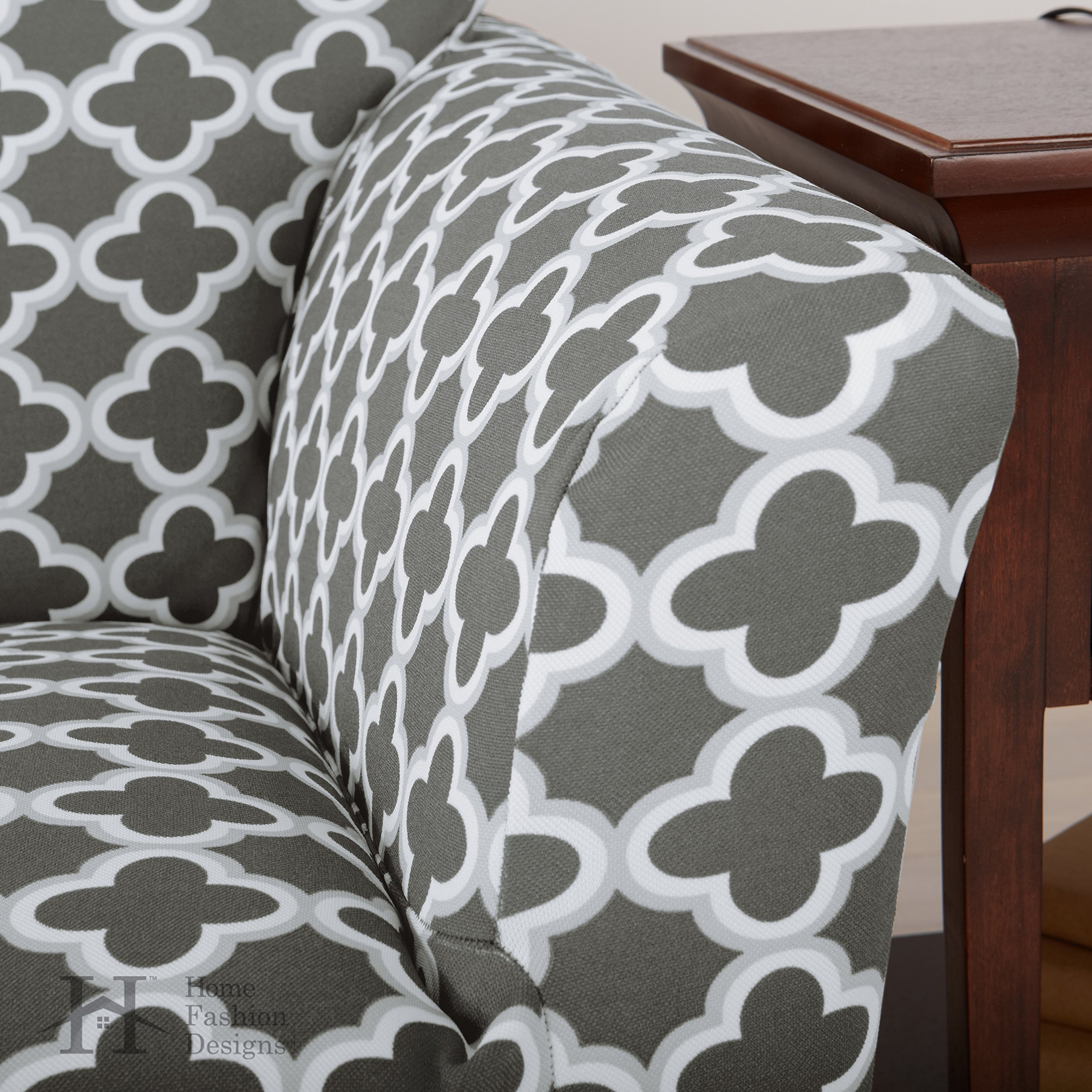 Home Fashion Designs Printed Twill Sofa Slipcover One Piece Stretch Couch Cover Strapless Sofa Cover For Living Room Brenna Collection Slipcover Sofa Catalog Furniture