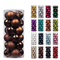 Christmas Baubles Tree Ornaments Shatterproof Ball Xmas Hanging Decorations Centrepieces 24pcs