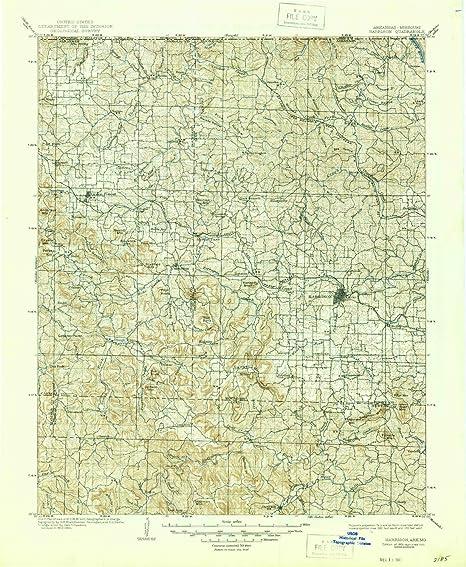 Amazon.com: YellowMaps Harrison AR topo map, 1:125000 scale, 30 X 30 ...