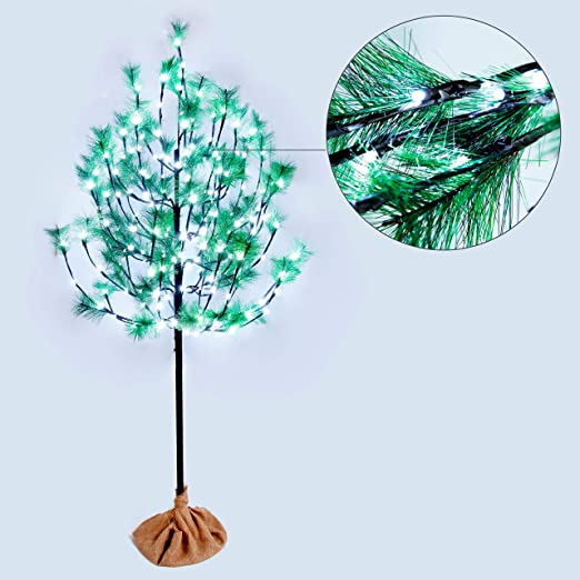 8 Effets Lumineux Impressionnants CCLIFE Arbre Lumineux 1.8m 120LED arbre artificiel lumineux 1.5m Couleur:Blanc Froid 220LED 160LED 2.2m Blanc Chaud//Blanc Froid LED Size:180cm