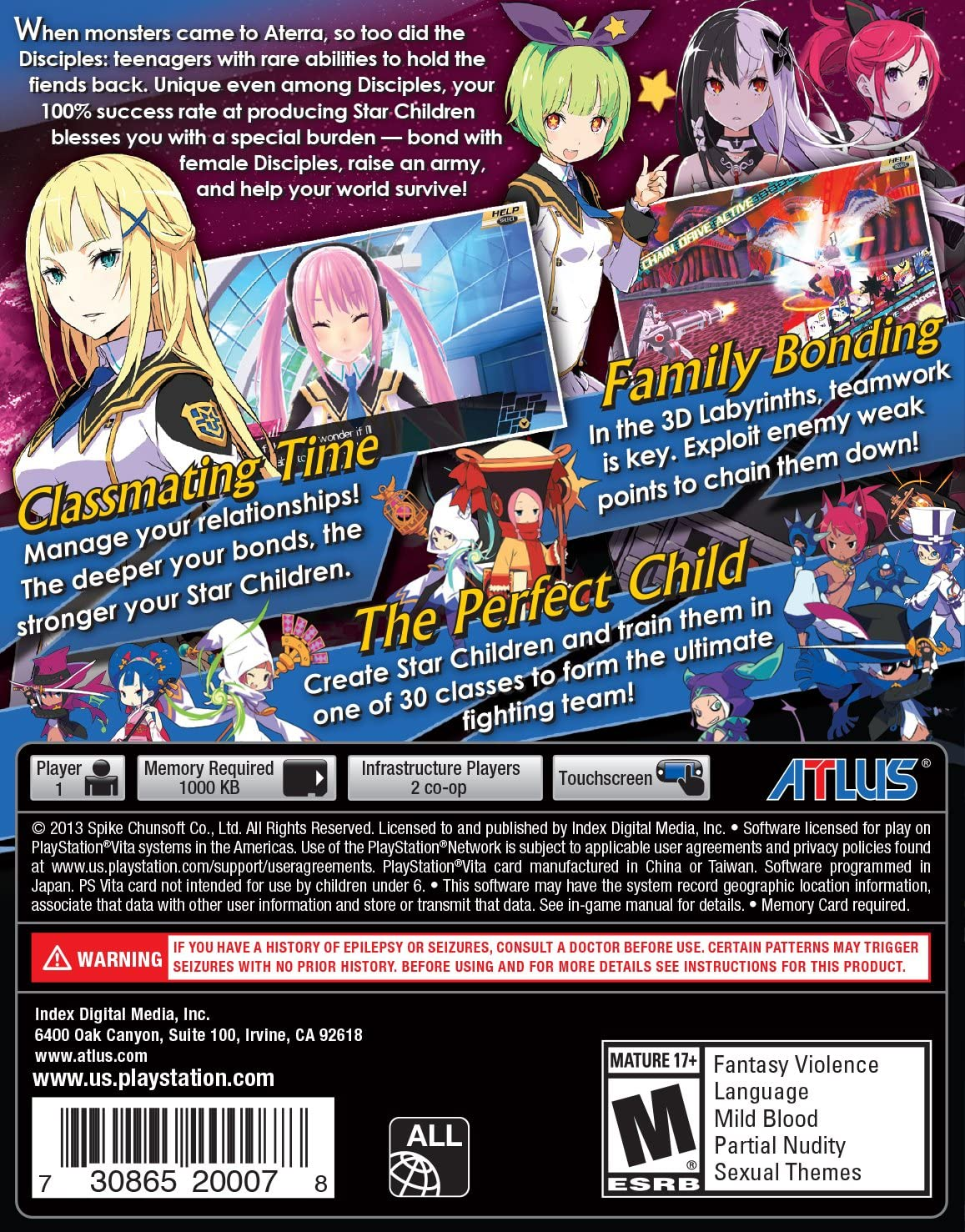 Amazoncom Conception Ii Children Of The Seven Stars Playstation
