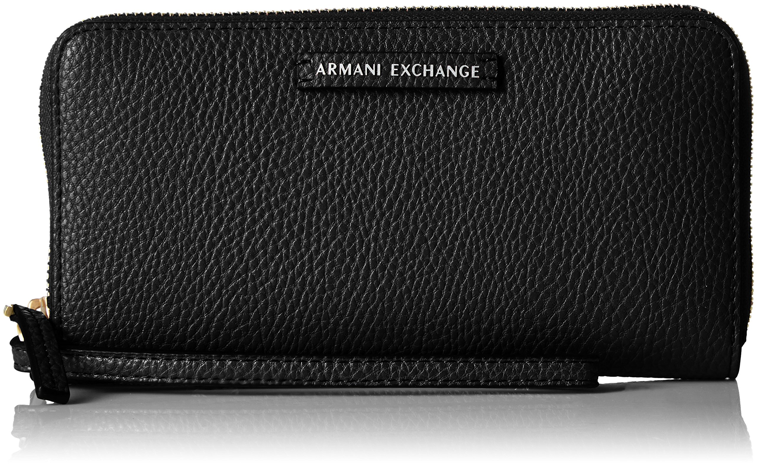 A|X Armani Exchange Wristlet, Black, One Size