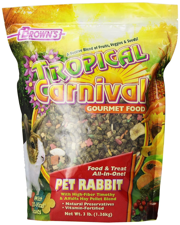 F.M. Brown's Tropical Carnival Rabbit Food, 3 Lb