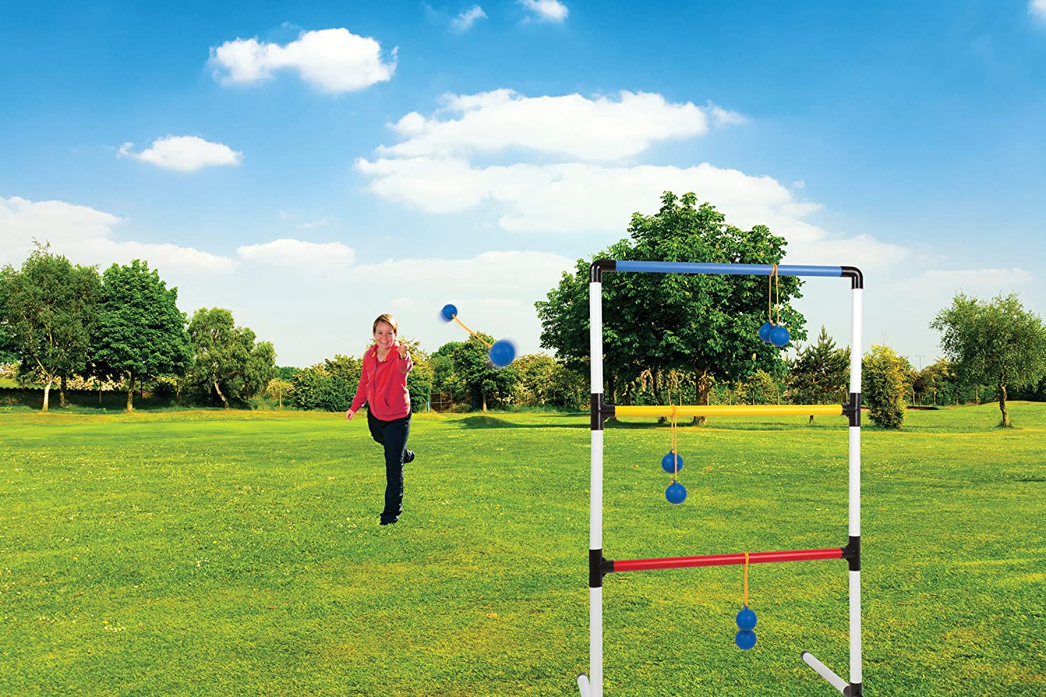 amazon com outdoor backyard ladder ball lawn game 1 one piece