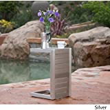 Crested Bay Silver Aluminum C-Shaped End Table