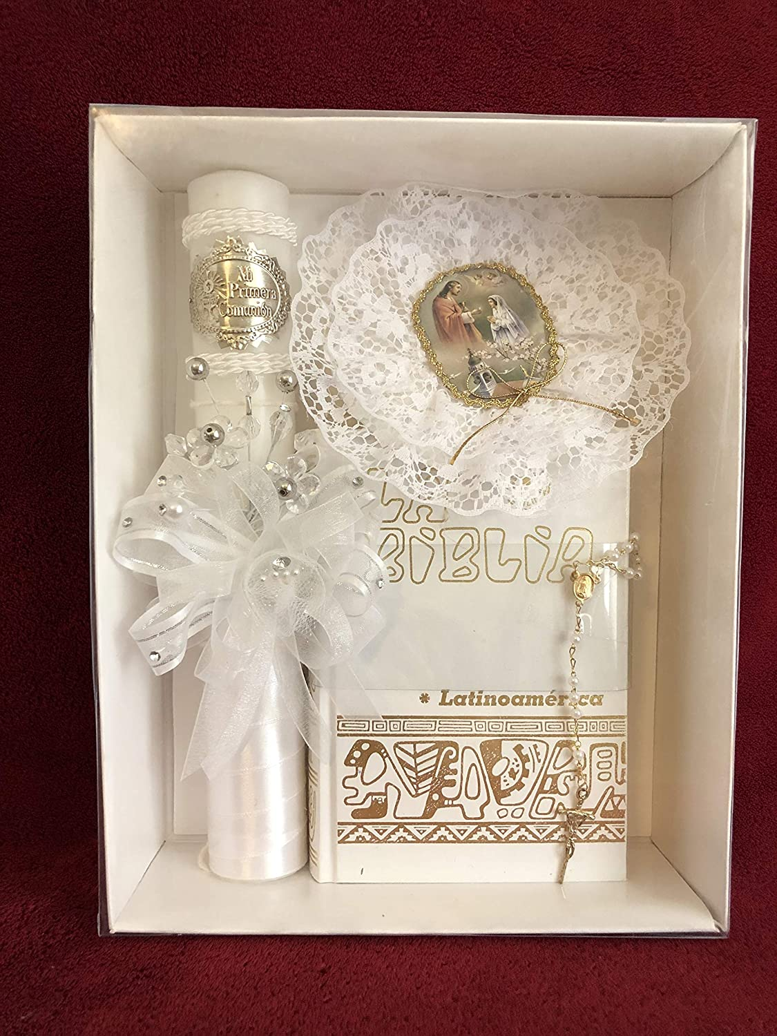 Amazon.com: First Holy Communion Organza Flowers/Embossed ...