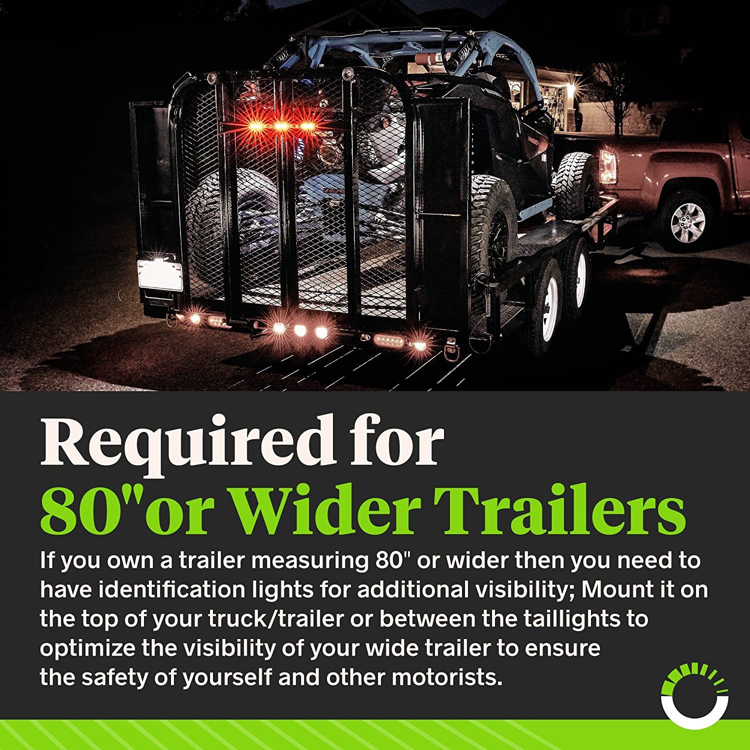 16 12 Led Red Trailer Id Light Bar Brake Sequential Scout 80 Wiring Harness Turn Signal Dot Certified Ip67 Submersible Clearance Marker Tail For Or Wider Trailers Automotive