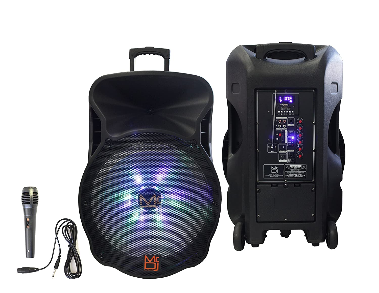 欲しいの Mr. Dj DJ18BAT 18インチ5000ワット最大電力スピーカー Dj Bluetooth内蔵&充電式バッテリー LCD/MP3/USB SDスロット LCD/MP3/USB/micro/micro SDスロット B07HBPCWPX, インナーショップクレール:bbe172be --- nicolasalvioli.com