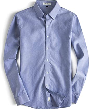 Mens Casual Shirt Regular Fit Pure Cotton Long Sleeve