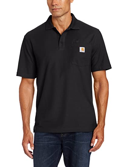 28bdafc5 Carhartt Men's Contractors Work Pocket Polo at Amazon Men's Clothing store: Polo  Shirts