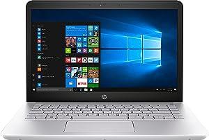 """HP 1KT95UA Pavilion Notebook Laptop (Windows 10, 7th Gen Intel Core i7-7500U Processor, 14"""" (1920 x 1080) Full HD Display, SSD: 512 GB, RAM: 8 GB DDR4) Silver"""