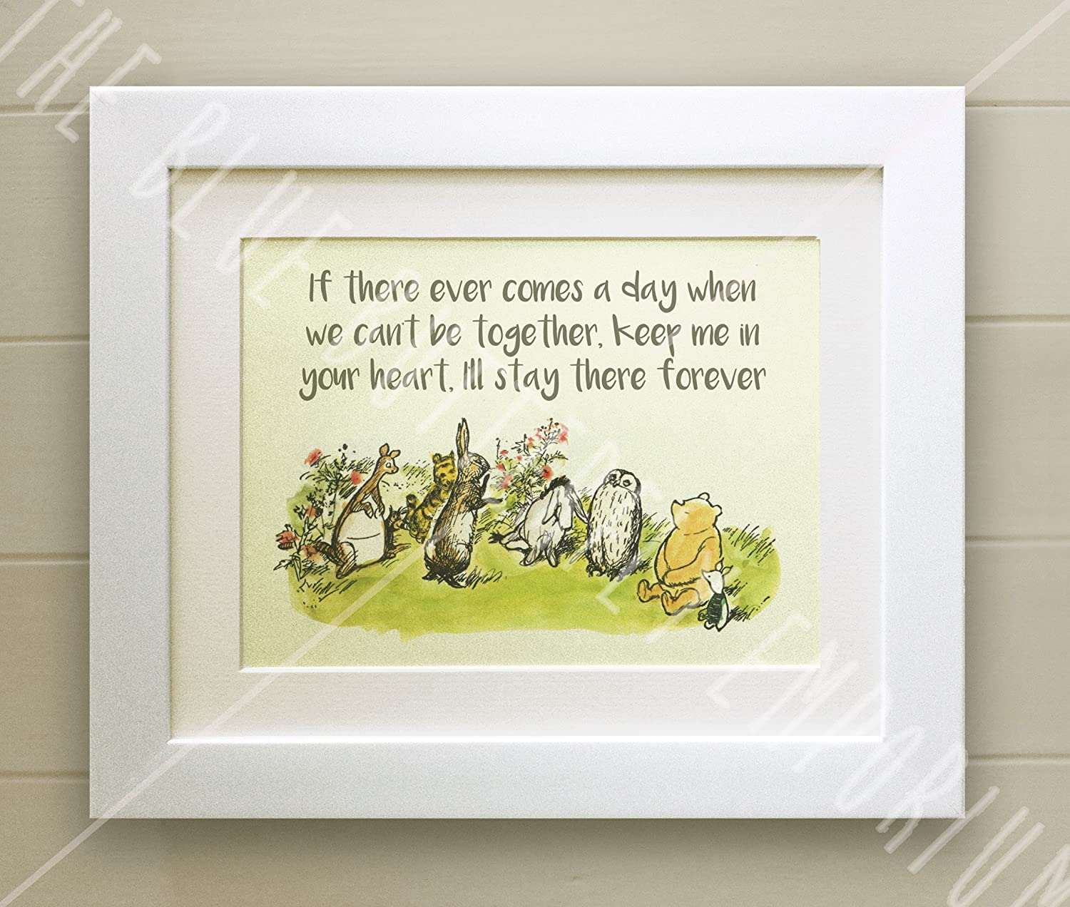 Winnie the Pooh FRAMED QUOTE PRINT, New Baby/Birth, Nursery Picture ...