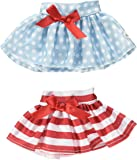 Elf on The Shelf Claus Couture Twirling in The Snow Skirts Novelty, Red/Blue/White