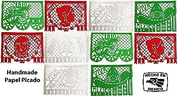 amazon com mexican flag colors genuine festive large mexican papel