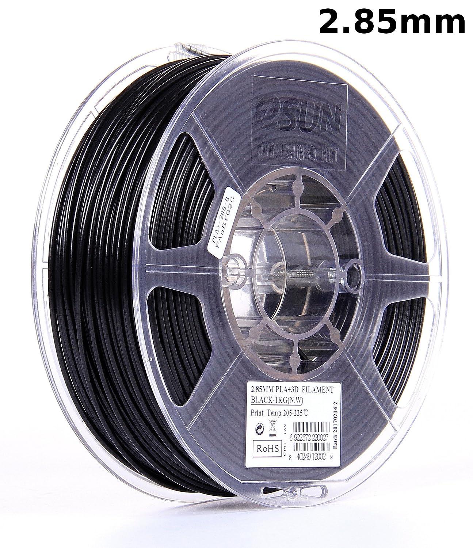 B01EKFV4RS eSUN 3mm Black PLA PRO (PLA+) 3D Printer Filament 1KG Spool (2.2lbs), Actual Diameter 2.85mm +/- 0.05mm, Black 91MHWy4MFHL
