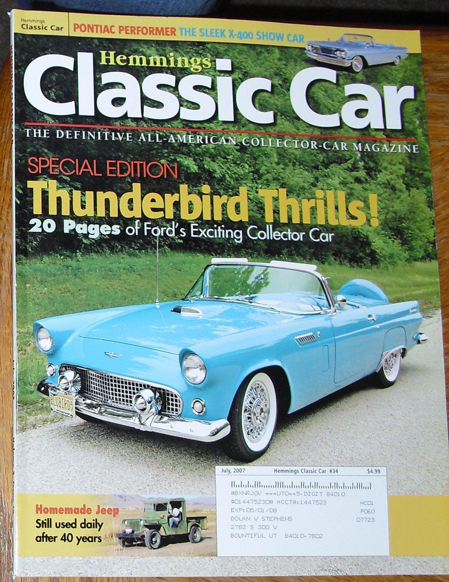 Hemmings Classic Car Magazine, July 2007: Amazon.com: Books
