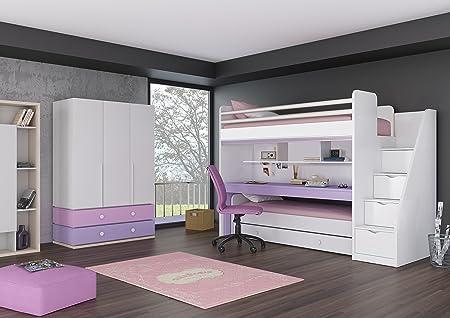 Etagenbett Kinder Regal : Kinder jugendzimmer komplett hochbett inkl. regal unterbett 3
