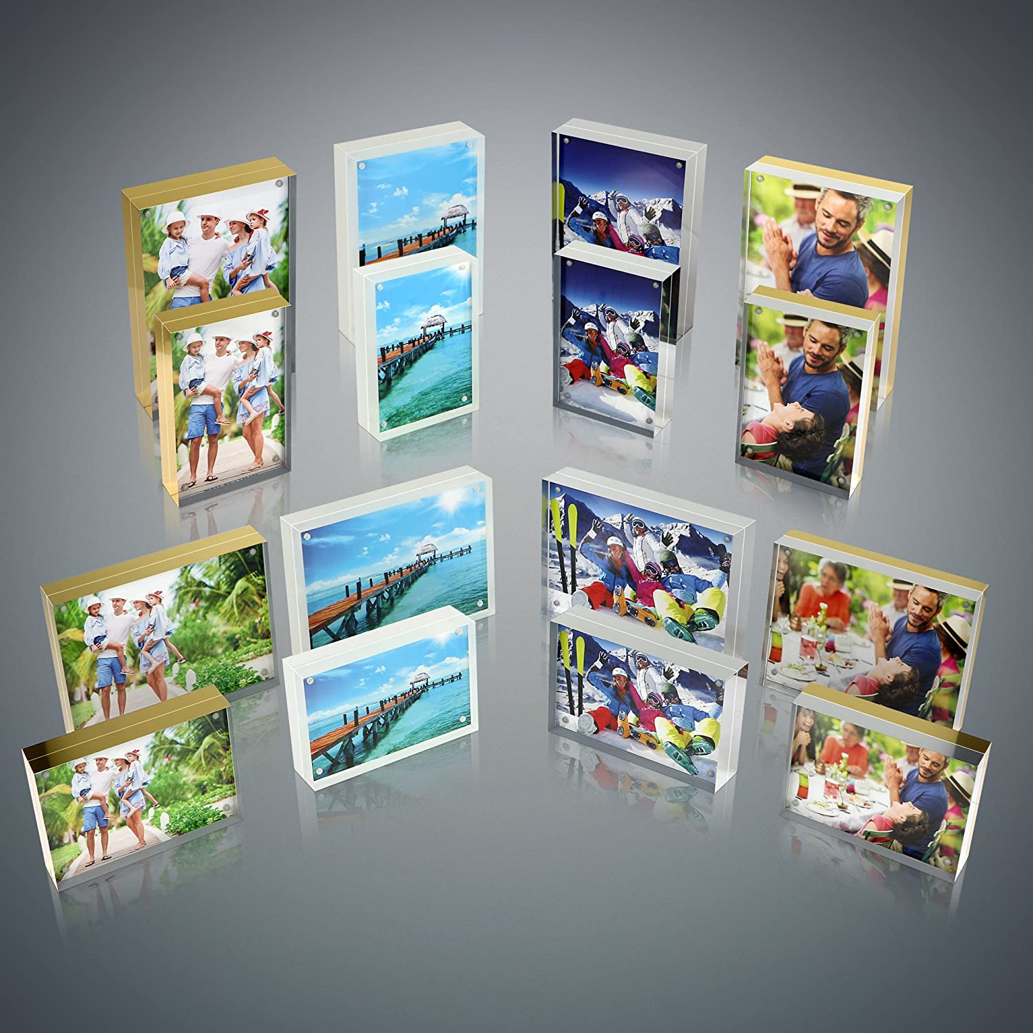 4x6 Double Sided Picture Frame Magnetic Clear Acrylic Photo Frames