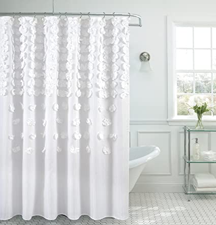 Amazon BH Home Luxurious Bow Shower Curtain 70x72 Inch Made