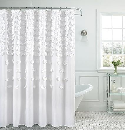 Amazon.com: B&H Home Luxurious Bow Shower Curtain 70\