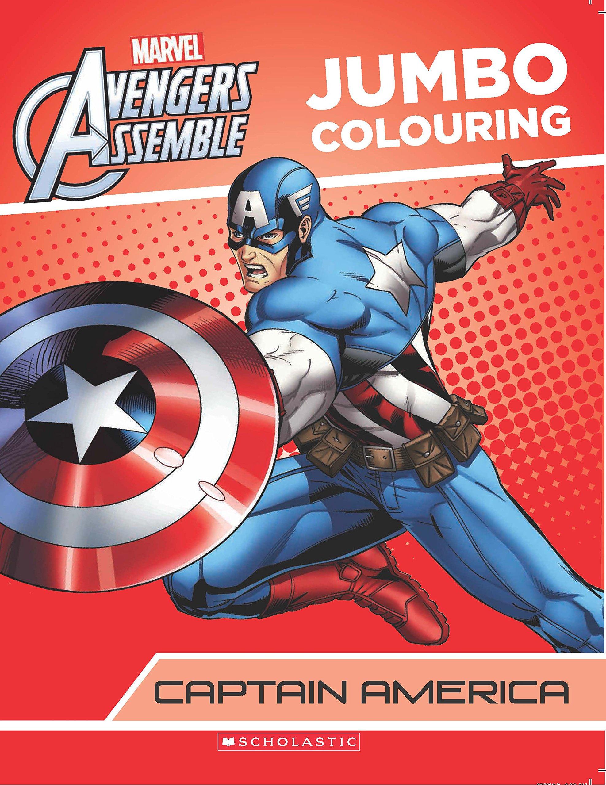 Buy Captain America Jumbo Colouring Marvel Avengers Infinity War
