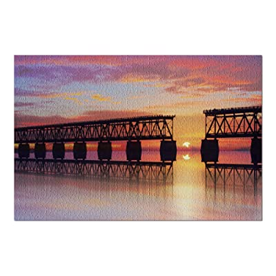 Key West, Florida - Bahia Honda Rail Bridge - Photography A-93052 (Premium 1000 Piece Jigsaw Puzzle for Adults, 20x30, Made in USA!): Toys & Games