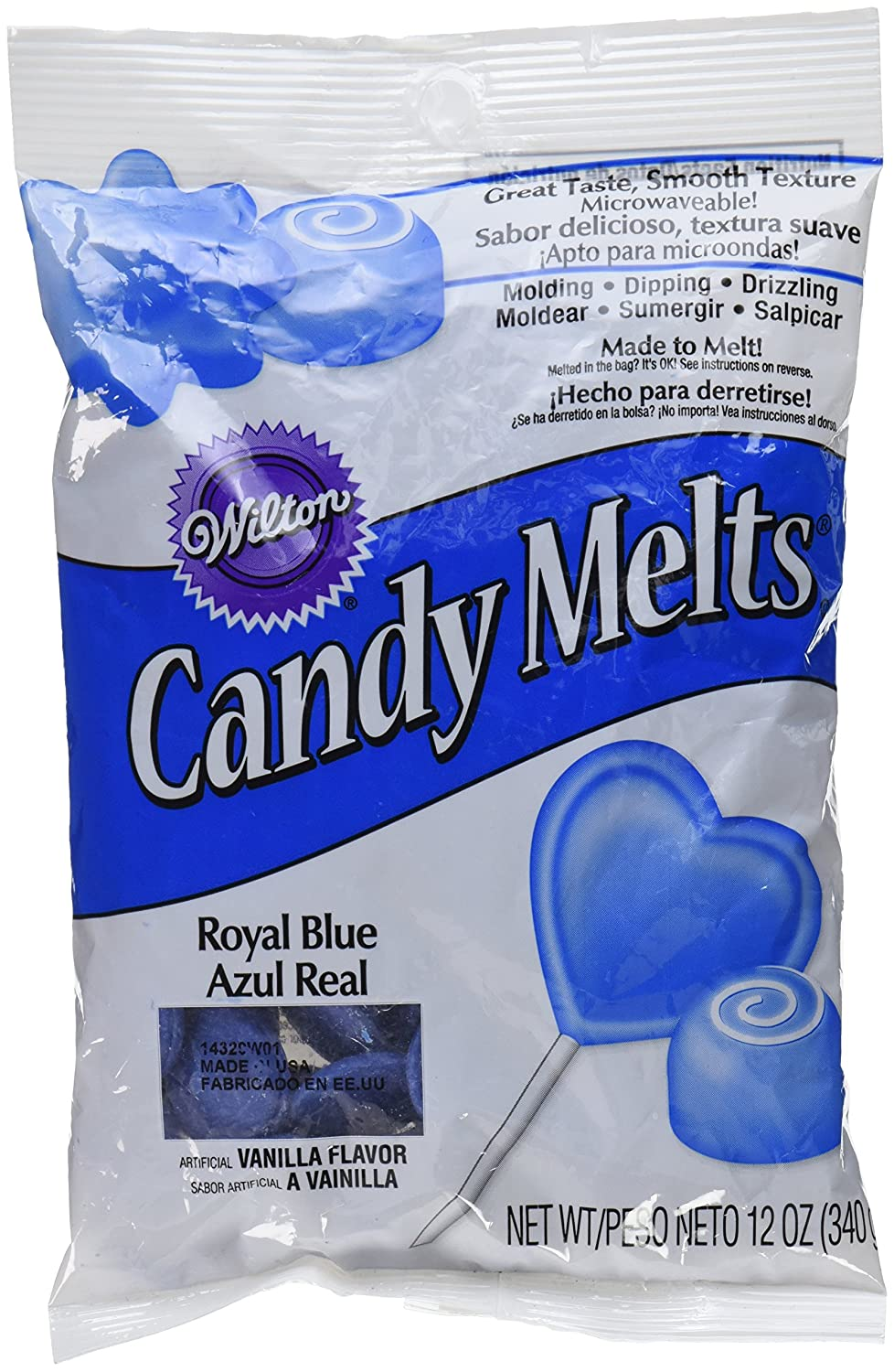 Wilton 1911-4320 Candy Melts, Royal Blue, 12 Ounce