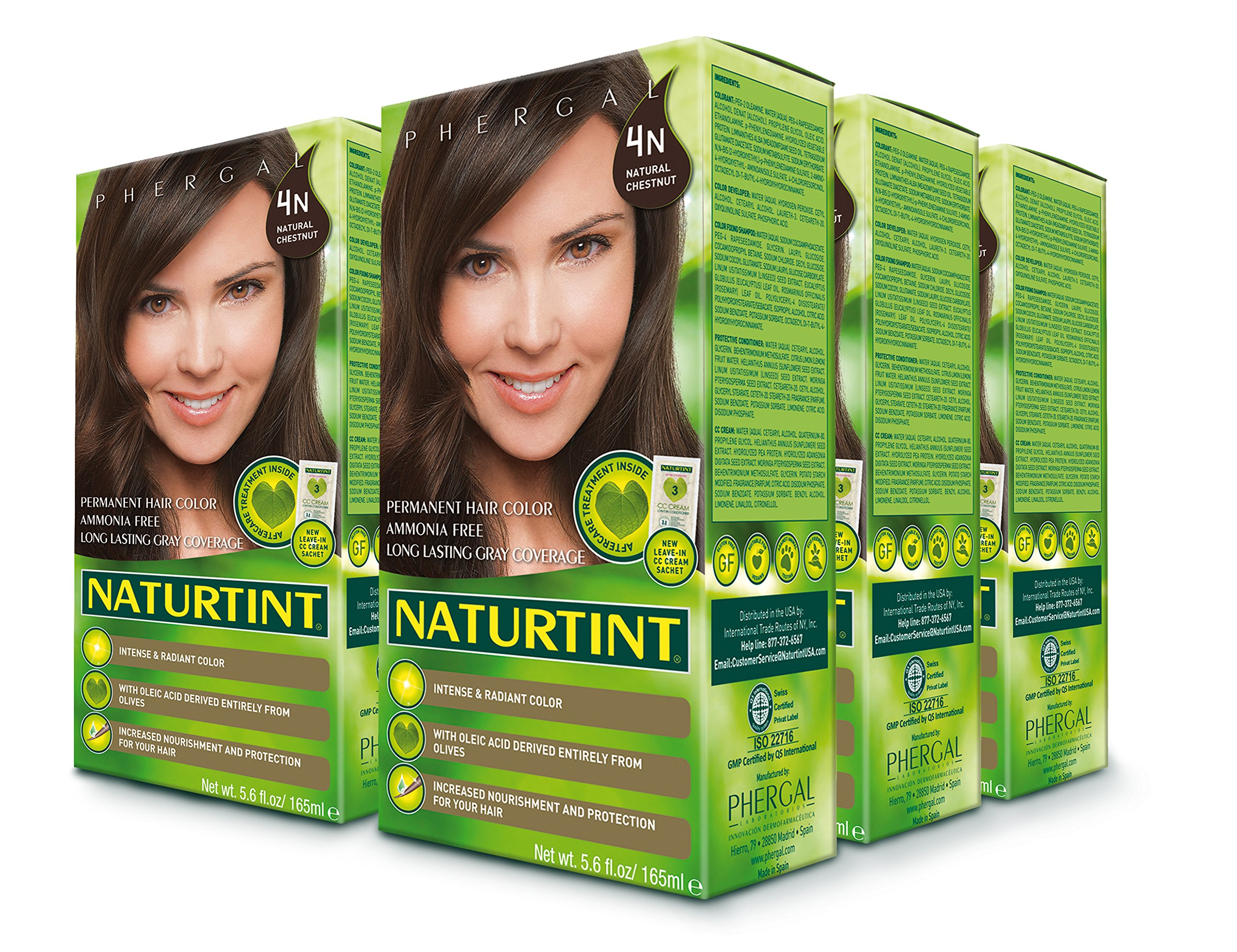 Naturtint Permanent Hair Color - 4N Natural Chestnut, 5.28 fl oz (6-pack) by Naturtint