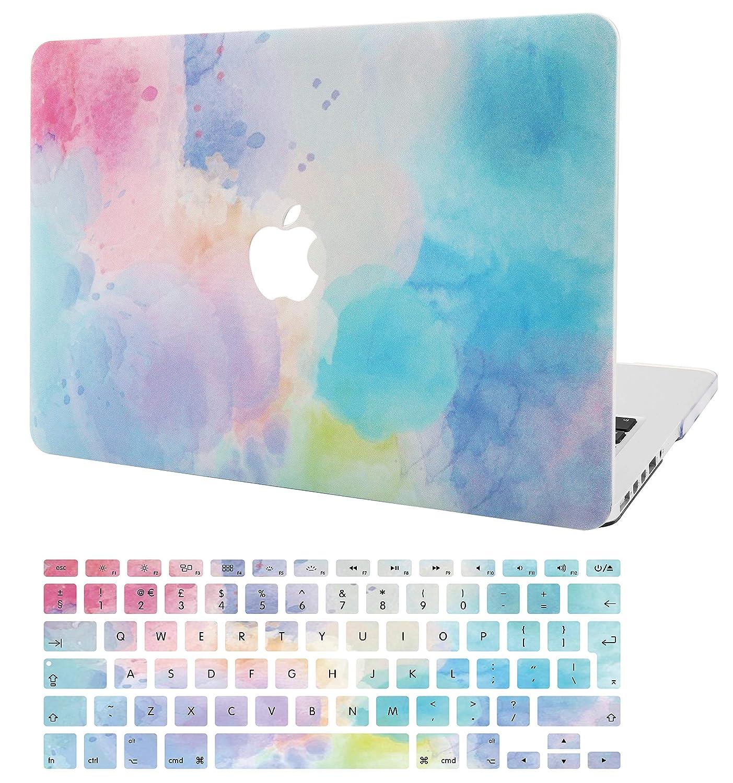 Black Leather KECC MacBook Air 13 Pulgadas Funda Dura Case w//EU Cubierta Teclado MacBook Air 13.3 Ultra Delgado Cuero {A1466//A1369}