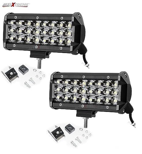 3e229ee97 AllExtreme EX24FW2 24 LED Fog Light Bar 7.5 Inch Waterproof Spot ...