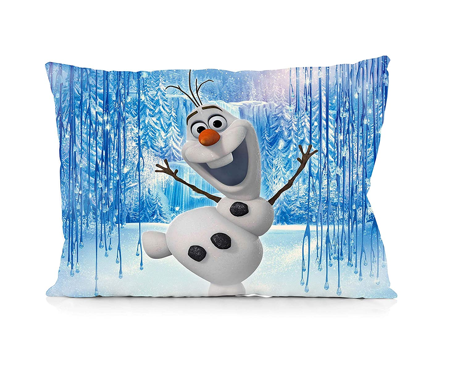 Olaf Frozen Pillowcase Size 20x30 Inches Two Sides Print Zipper