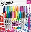 Sharpie Color Burst Permanent Markers, Fine Point, Assorted Colors, 24-Count
