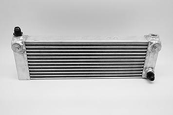 """Image ofAutobahn88 universale serbatoio olio Cooler, Large-tipo, 11 righe, Core L410xH150xW50mm (16.4x6x2""""), include 5 porte (M22x 1.5) e 2 pz M22-a-AN10 adattatori (argento)"""
