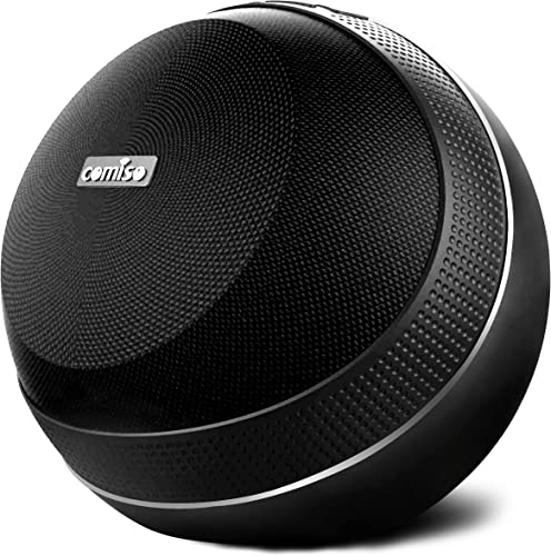 COMISO HomeAudio 40W Bluetooth Speakers, Loud Dual Driver Hi-Fi Wireless Bluetooth Speaker with HD Audio and Enhanced Bass, Wireless Stereo, Built in Mic, Aux Input, Long-Lasting Battery Life Black